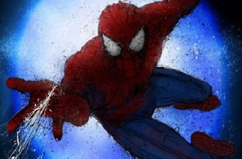 First pics of Spider-Man on Broadway!
