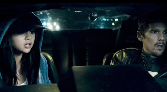 "Selena Gomez's new movie trailer of ""Getaway"""
