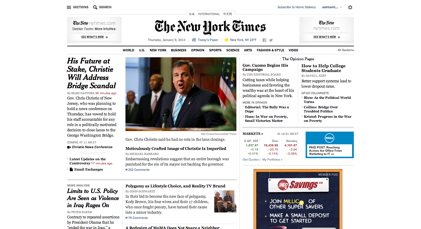 The New NYTimes.com: Can Its Redesign Guarantee Its Future?